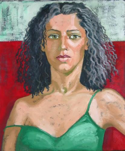 Dans mes archives (10) : petit portrait vert