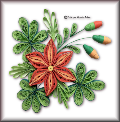 Tubes Quilling Arts floral 2984