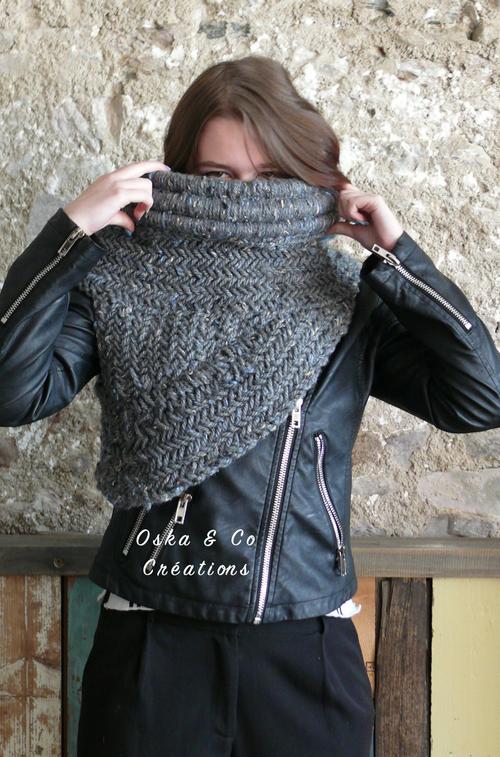 Col de Katniss DIY porté