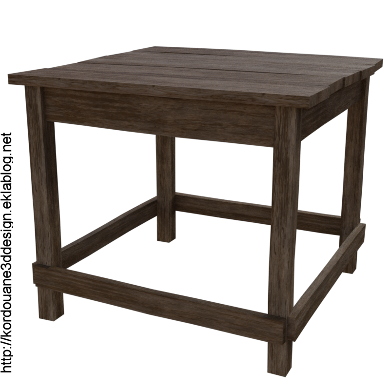 Tube de table en bois (image-render)