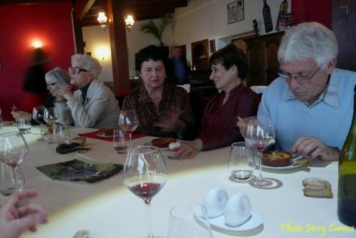 Le repas amical des peintres de la Section-Peinture des Amis du Châtillonnais..