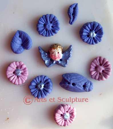 boutons faits maison dans nos moules pour loisirs créatifs - Arts et Sculpture: sculpteurs, artisans d'art