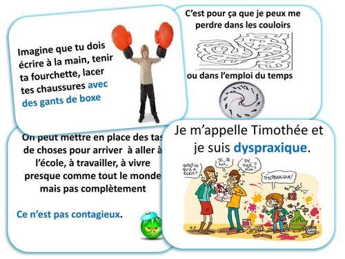 La dyspraxie expliquée par Thimotée