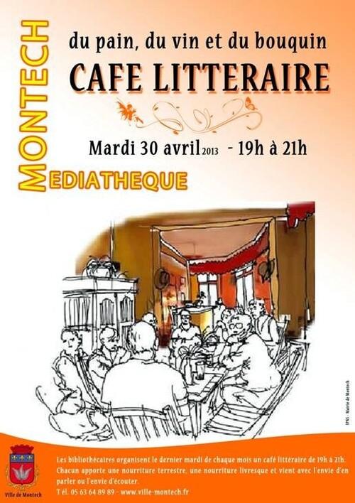 CAFÉ LITTÉRAIRE À MONTECH