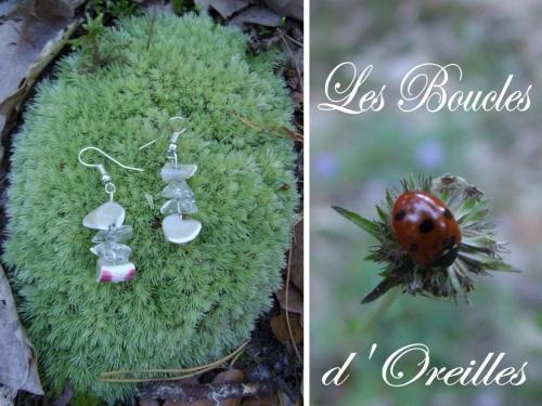 boucles d'oreilles en pierres semi précieuses
