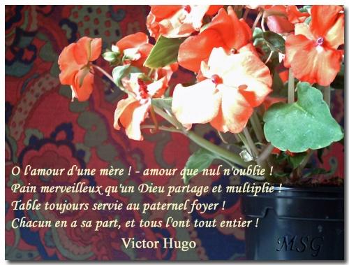 ô Lamour Dune Mère Victor Hugo Margareth