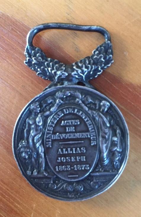 La médaille de Joseph Allias