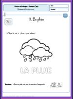 La pluie - fiches de graphisme