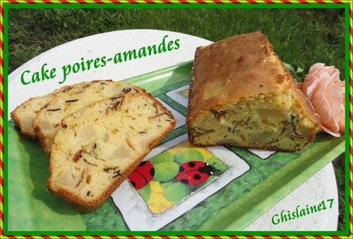 Cake poires-amandes
