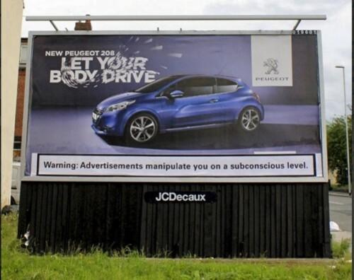 brandalism Shift:delete Peugeot Leeds