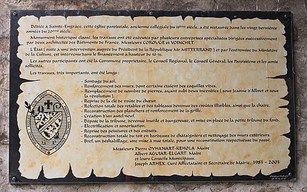 Ste Engrâce -7- l'église romane