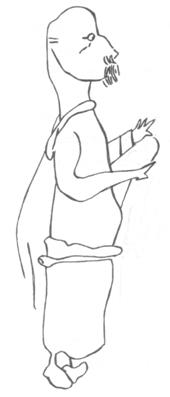 Sculpture de la tête d'homme de Glozel: