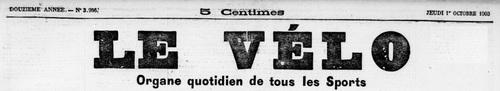 - Course cycliste 28 septembre 1903