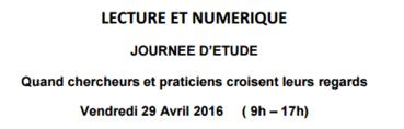 Lecture et numérique : journée d'étude à Villeurbanne (29 avril)