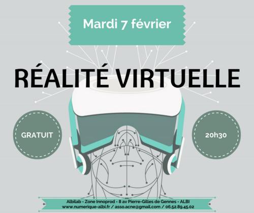 Soirée FabLab ALBI : La réalité virtuelle (7 février)