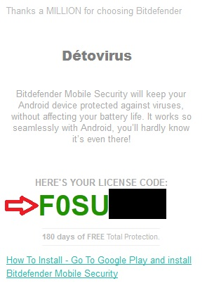 Bitdefender Mobile Security Premium - Licence 6 mois gratuits