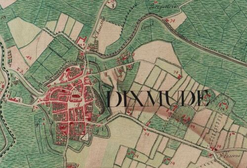 Dixmude (Carte Ferraris, 1777)(kbr.be)