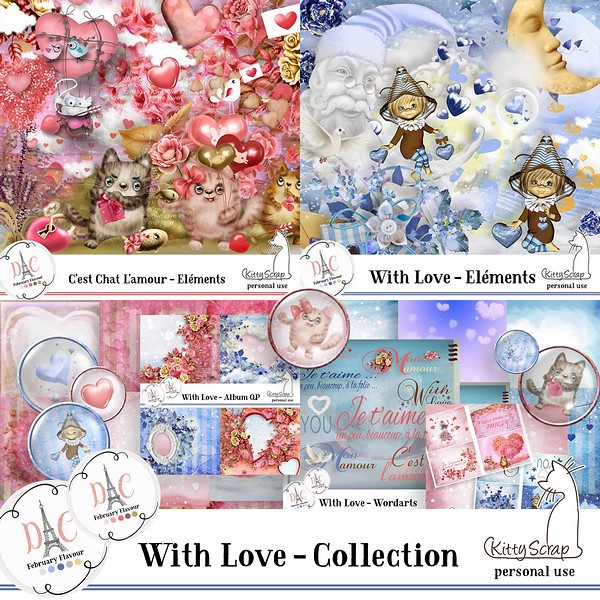FEBRUARY FLAVOR - With love Collection de kittyscrap