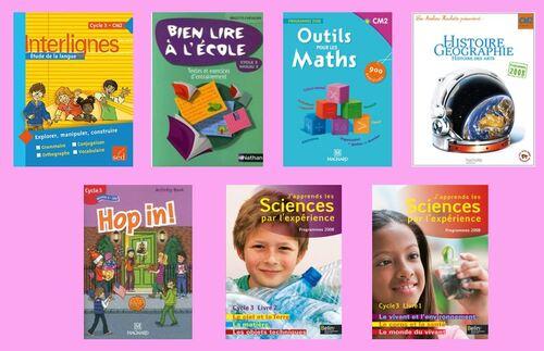 Les manuels de la classe