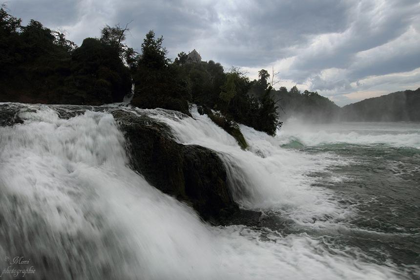 Les chutes du rhin - Schaffaussen.