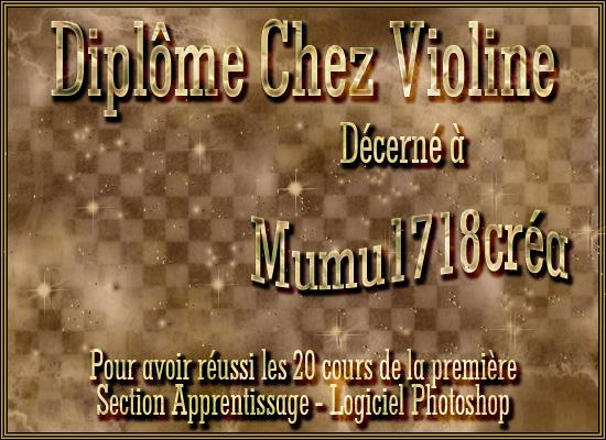 diplôme Violine