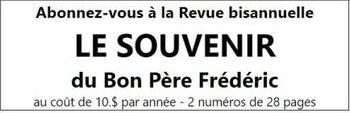 Centenaire de la mort du Bon Père Frédéric 1916-2016