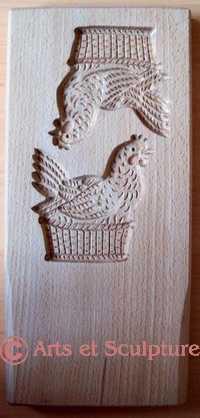 moule pour biscuits poules - Arts et sculpture: sculpteur sur bois