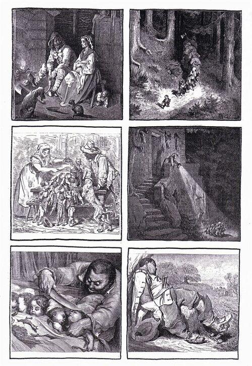 """Images séquentielles """"Le Petit Poucet"""" (ill. Gustave Doré)"""
