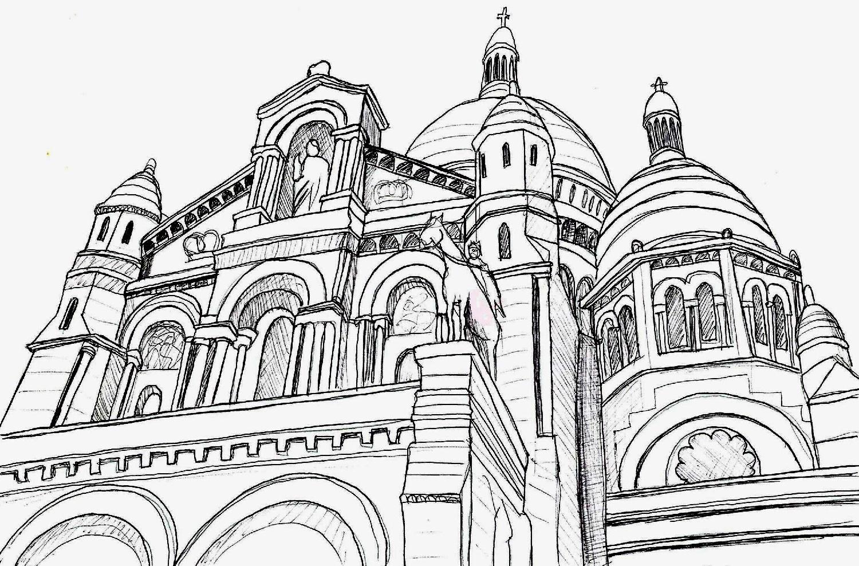 dessins d'architecture, 2005 : le sacré-coeur
