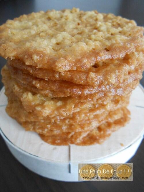Biscuits dentelle aux flocons d'avoine