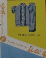 Barbie vintage : Fashion Pak Two-Piece Pajamas