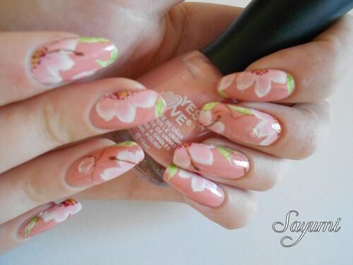 Nail Art Fleurs Sauvages