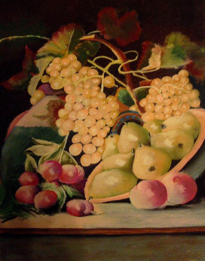 Grappes de raisin et fruits