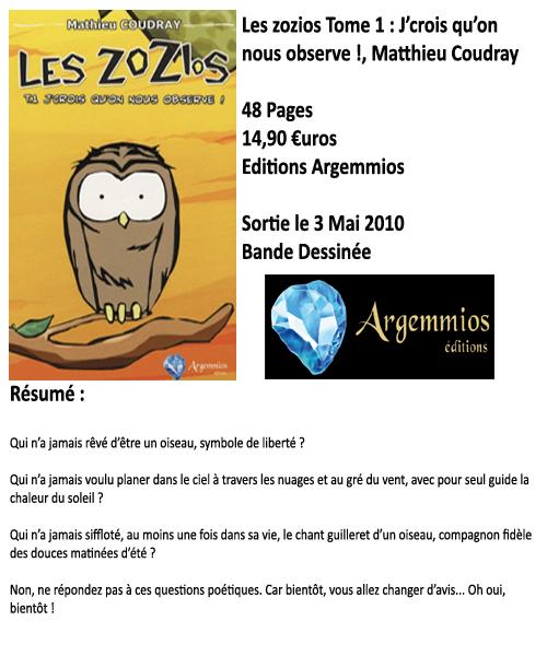Les zozios tome 1 : J'crois qu'on nous observe !, Mathieu Coudray