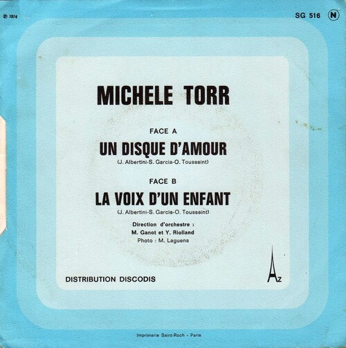 Michele Torr - Un Disque D'Amour (1974) 02