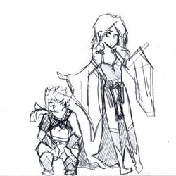 Edge et Rydia - FFIV