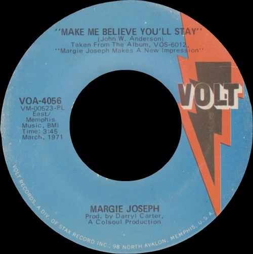 "Margie Joseph "" Makes A New Impression "" Volt Records VOS-6012 [ US ] en Février 1971"
