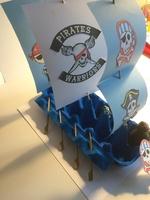 Bateau de pirate (récup boite oeuf en carton) (vacances hiver - création n° 4)