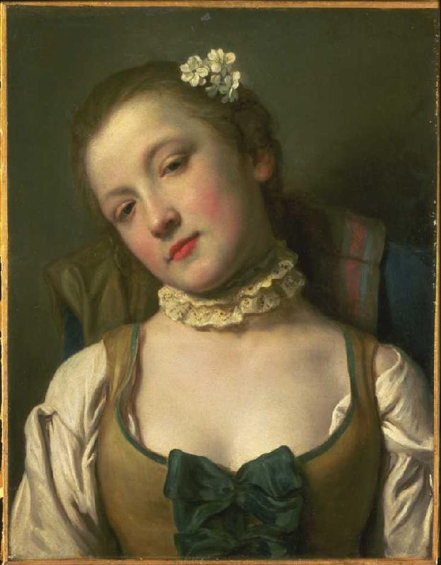 Titre de l'image : Pietro Antonio Conte Rotari - Fille avec la ruche de col blanche