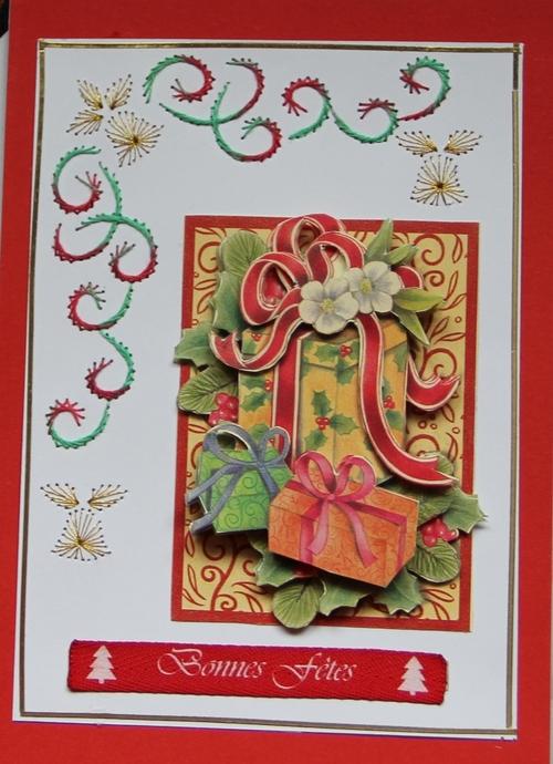 Carte à fils de Noël