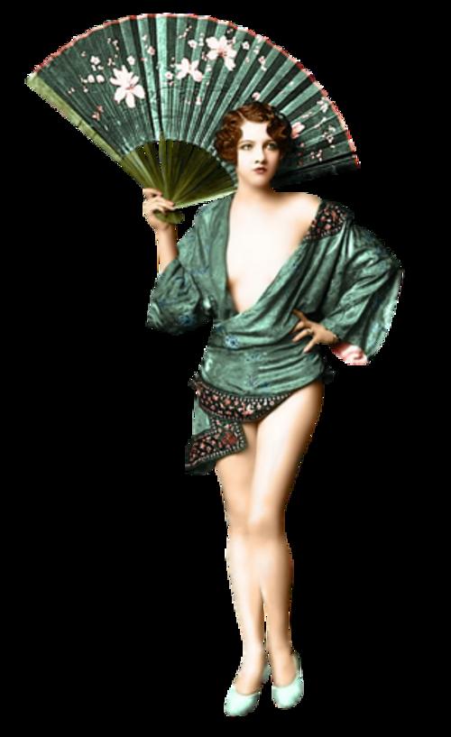 Femme vétue de vert 1