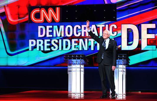 Bernie Sanders, opposant à Hillary Clinton lors de la primaire démocrate, lors d'un débat arbitré par CNN le 6 mars 2016.