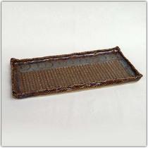 Plat à cake texturé Brun à effets bleutés