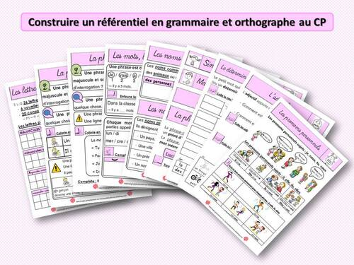 Construire un référentiel en grammaire-orthographe