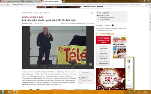 - Article du Journal de Saône et Loire le 04/12/2012