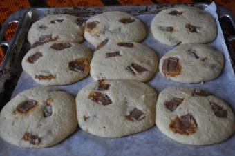 Géants Cookies au chocolat caramel milka