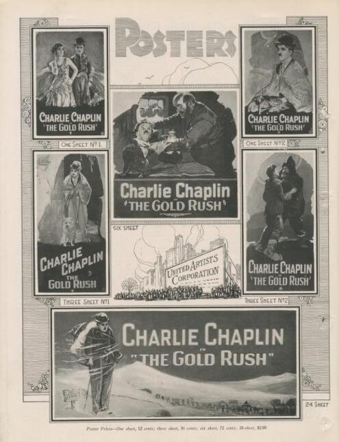 THE GOLD RUSH BOX OFFICE 1925