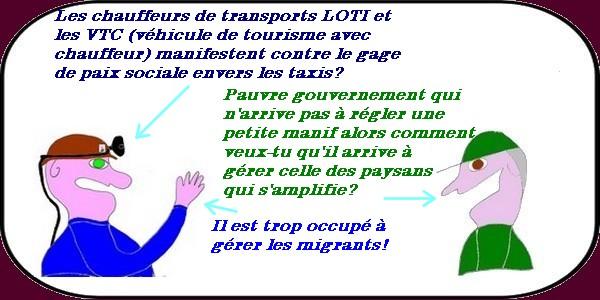 Après les taxis ce sont les VTC qui se mobilisent contre la paix sociale pour les taxis?