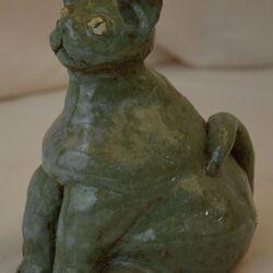 Chat vert (Grès émaillé)