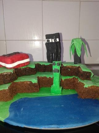 minecraft gâteau anniversaire Mniecraft birthday cake
